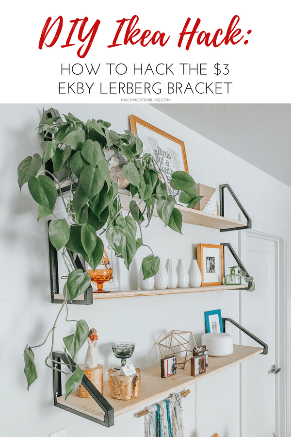 Diy Ekby Lerberg Bracket Ikea Hack Master Bedroom Shelving