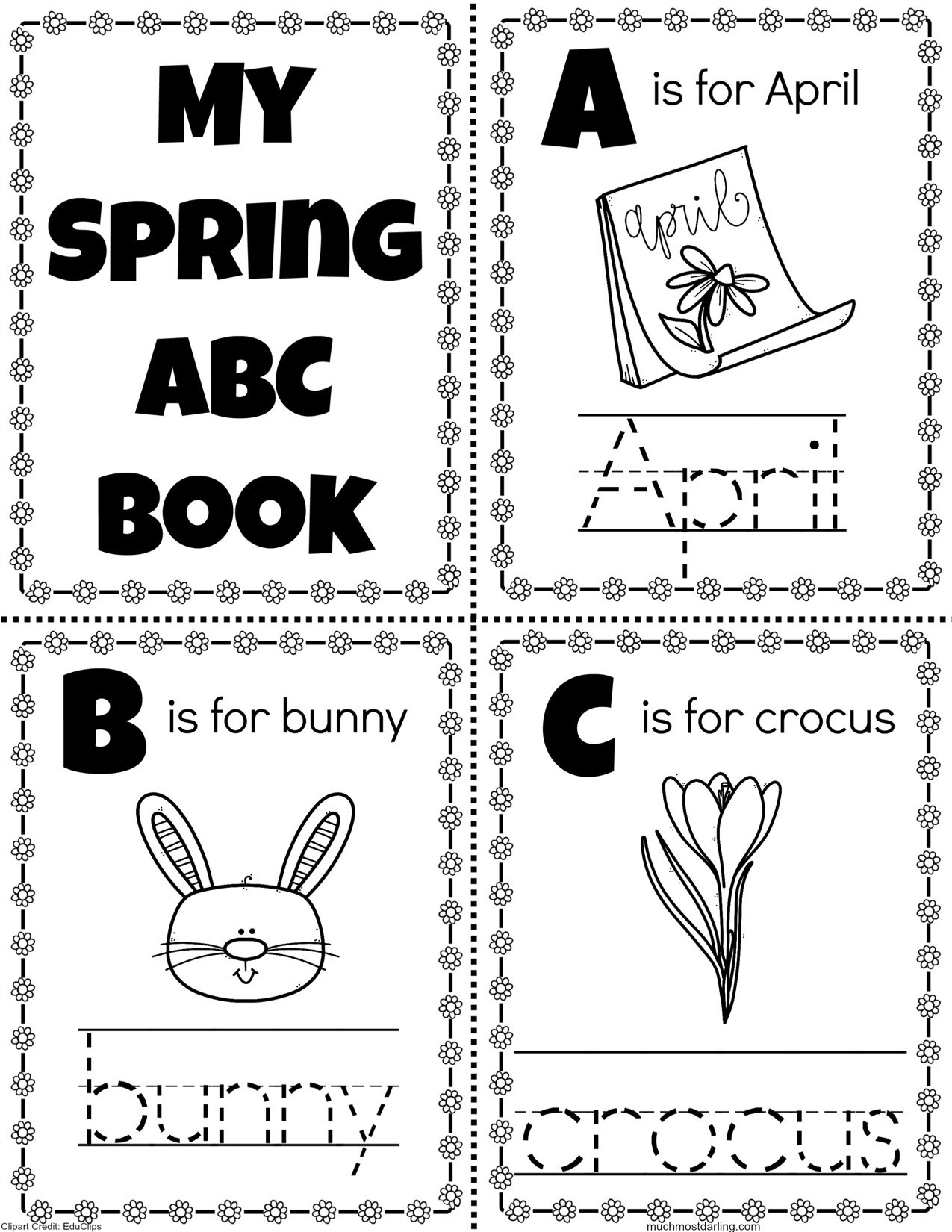 This is a picture of Abc Book Printable within traceable